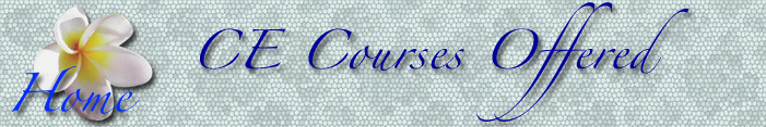 CE Courses Offered by Marian Joy Ring